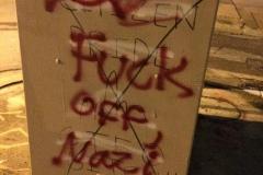 Antifascists Cover Citizen Pride Graffiti